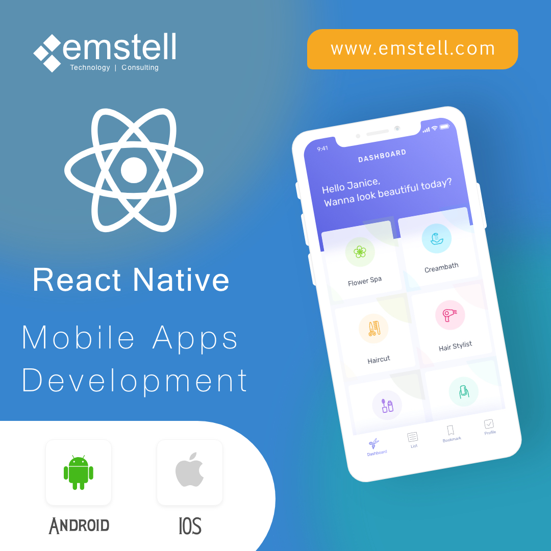 Mobile Application Development with React Native at Emstell Technolgies